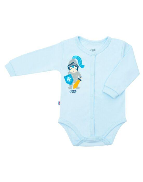 Baba pamut body teljes hosszában patentos New Baby Knight