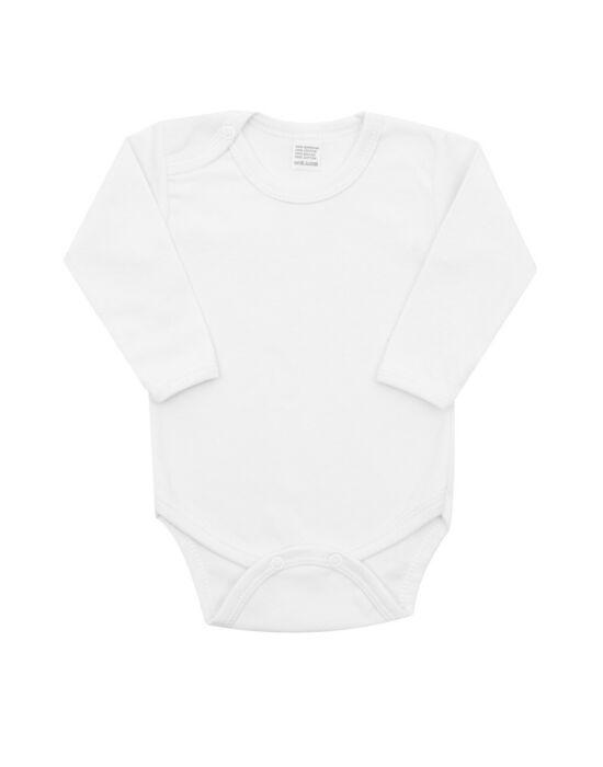 Luxus baba hosszú ujjú body New Baby - fehér