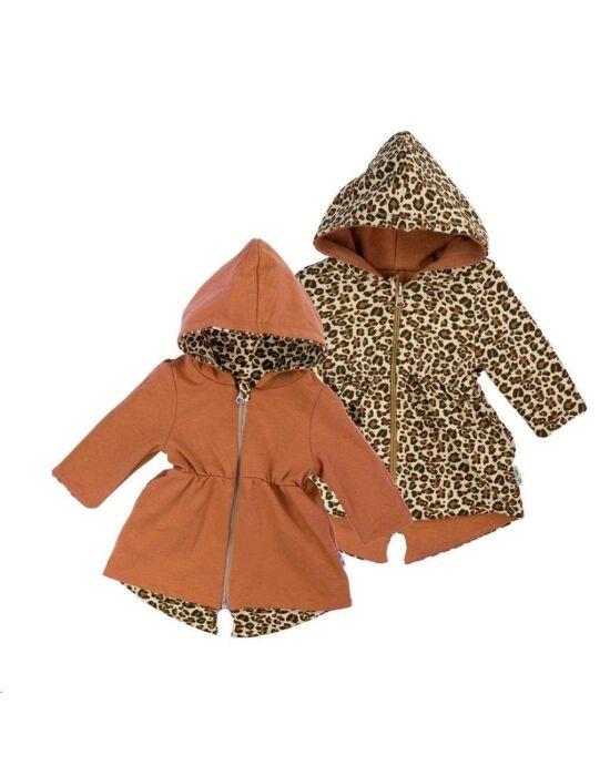 Kétoldalas baba kapucnis pulóver Nicol Mia