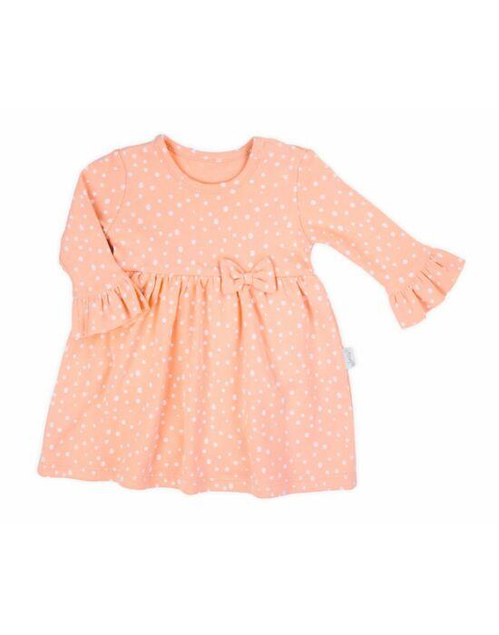 Baba hosszú-body ujjú ruha Nicol Rainbow rózsaszín