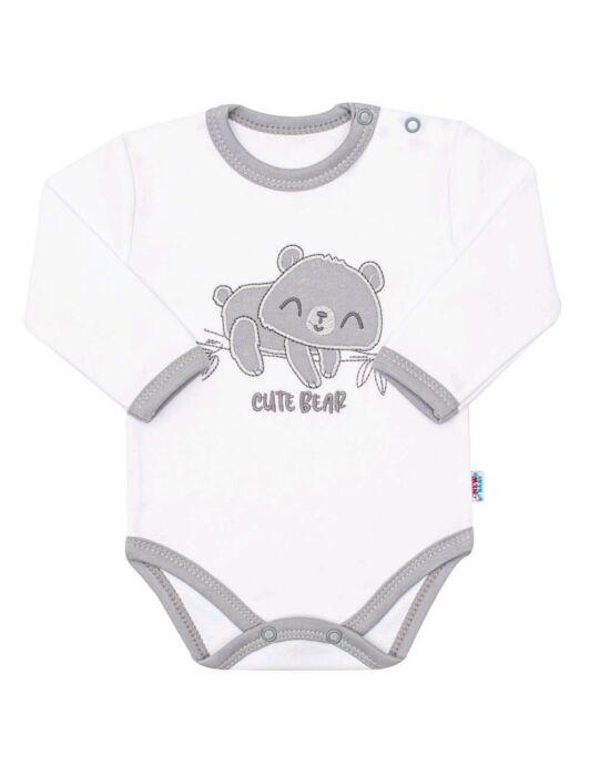 Baba pamut hosszú ujjú body New Baby Cute Bear