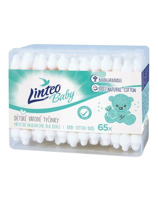 Papír fültisztító pálcika 100% natural Linteo 65 db dobozban