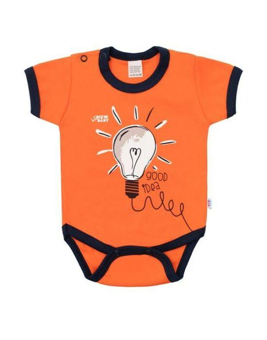 Baba pamut body rövid ujjú New Baby Happy Bulbs