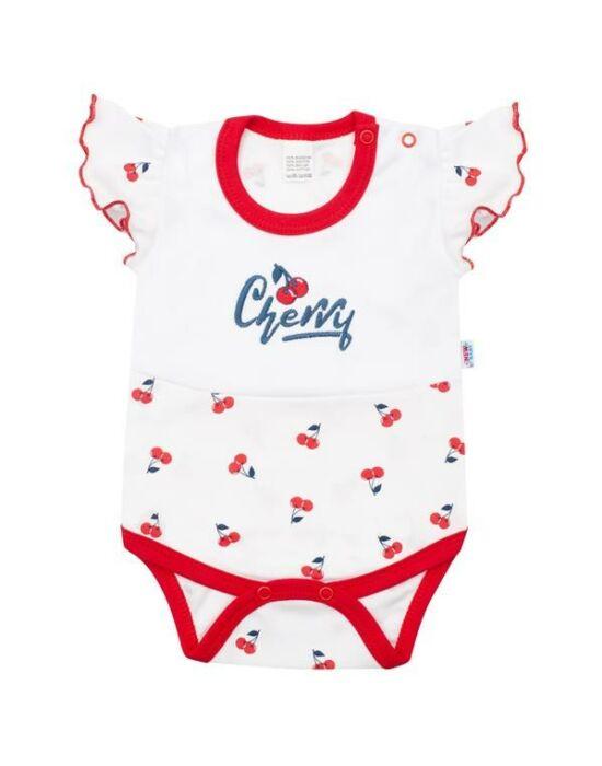 Baba pamut body rövid ujjú New Baby Cherry