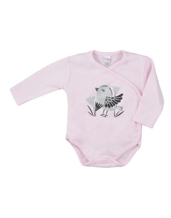 Baba pamut áthajtós patentos body Koala Birdy rózsaszín