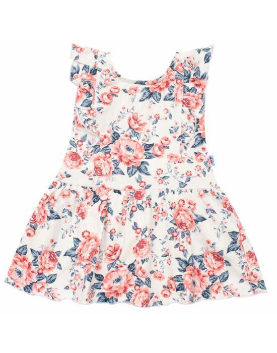 Baba nyári pamut ruha New Baby Roses krémszínű-rózsaszín