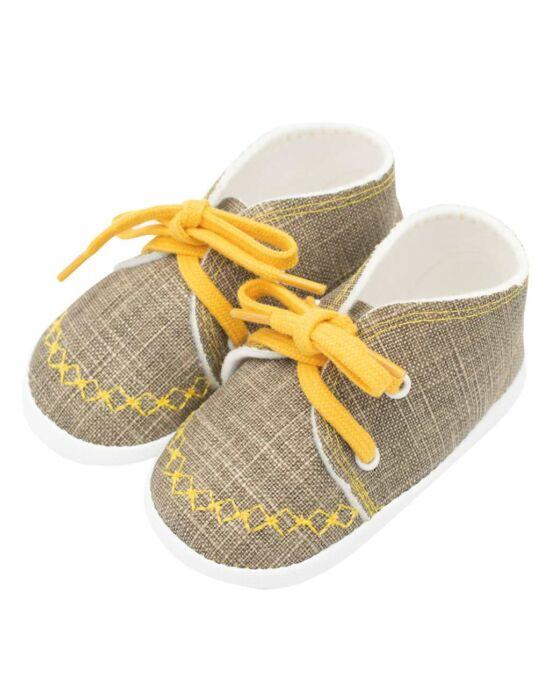 Baba tornacipő New Baby jeans mustard 0-3 h