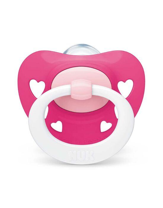 Baba cumi  NUK Classic Signature 18-36h rózsaszín heart