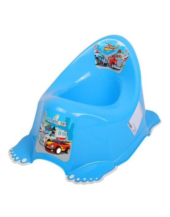 Zenélő gyerek csúszásmentes bili Autók kék