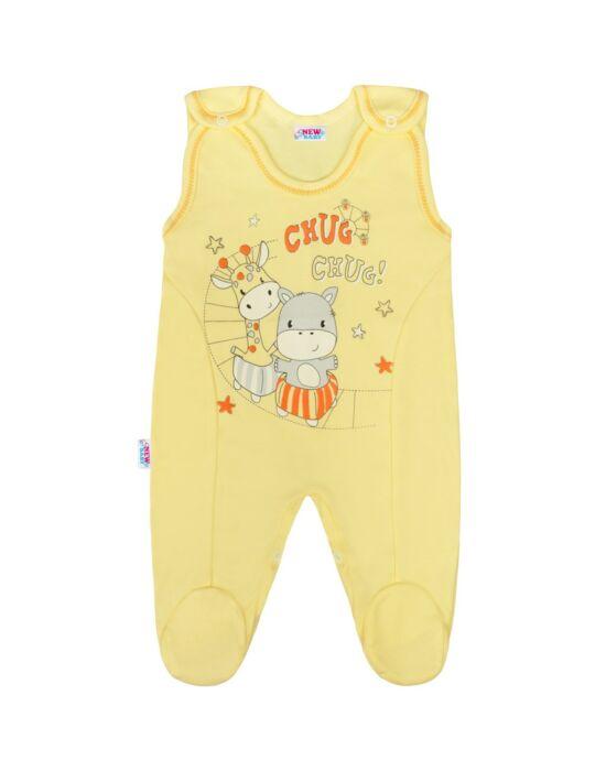 Baba rugdalózó New Baby chug sárga, több méretben