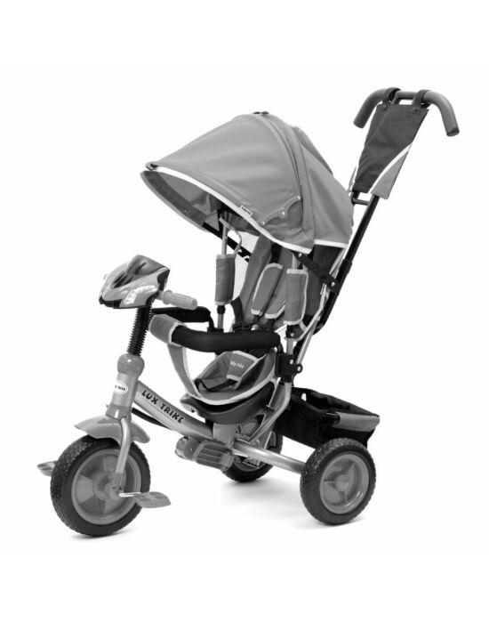 Gyerek háromkerekű bicikli  Baby Mix Lux Trike szürke