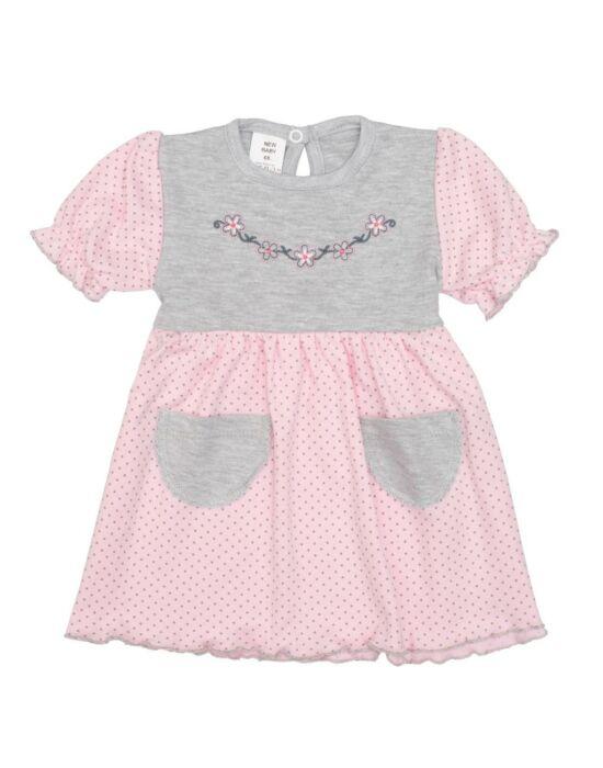 Baba ruha New Baby Summer dress rózsaszín-szürke