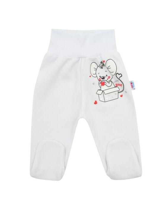Baba lábfejes nadrág New Baby Mouse fehér