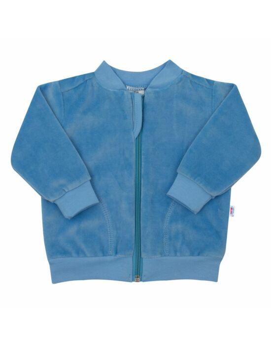 Plüss pulóver szürke New Baby Baby kék