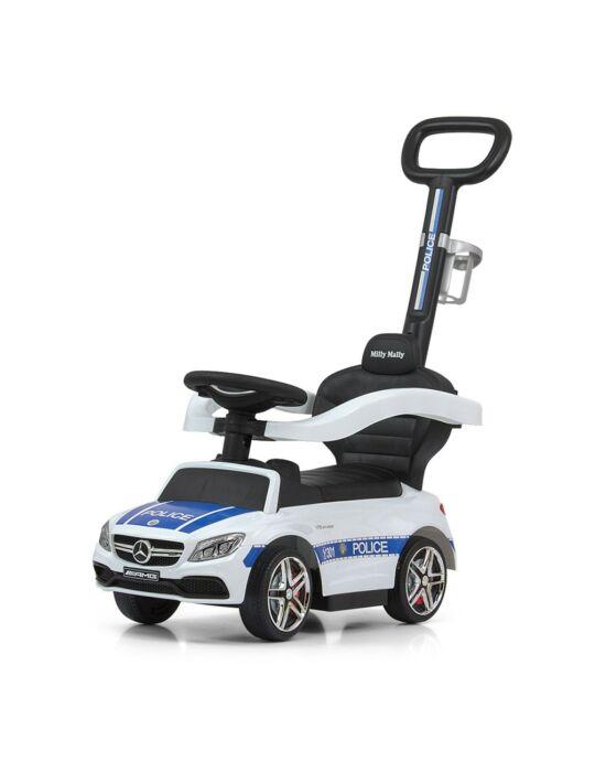 Bébitaxi tolókarral Mercedes Benz AMG C63 Coupe Milly Mally Police