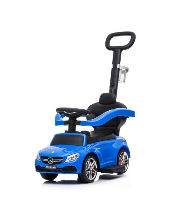 Bébitaxi tolókarral Mercedes Benz AMG C63 Coupe Baby Mix kék