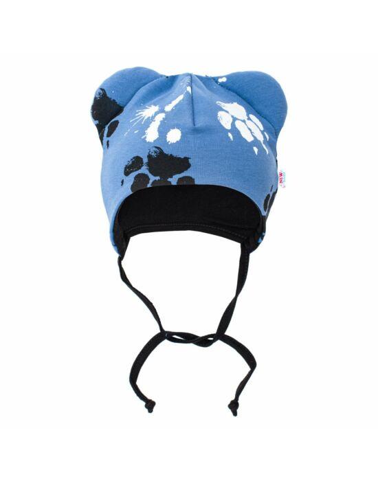 Baba pamut sapka fülekkel New Baby Paw kék