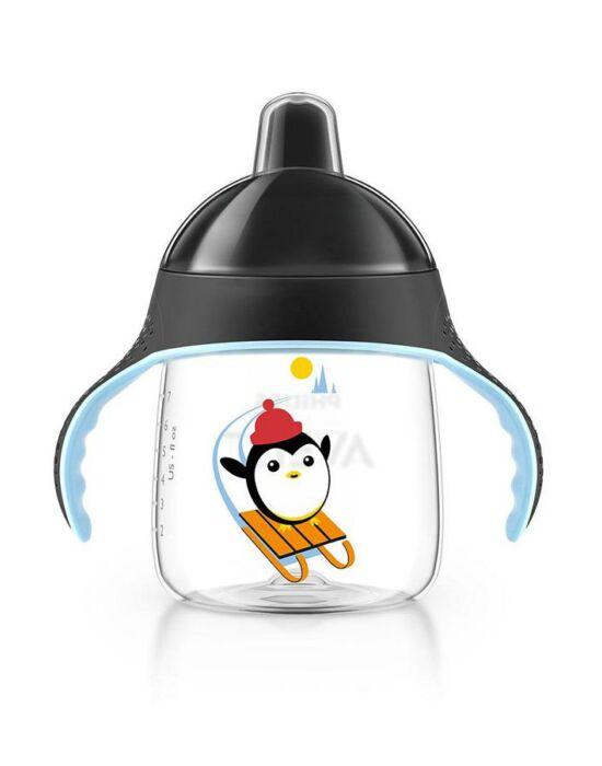 Bájos itatópohár Avent Pingu 260 ml fekete