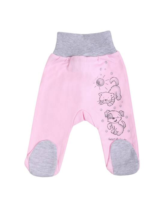 Csecsemő lábfejes nadrág New Baby Barátok rózsaszín, több méretben