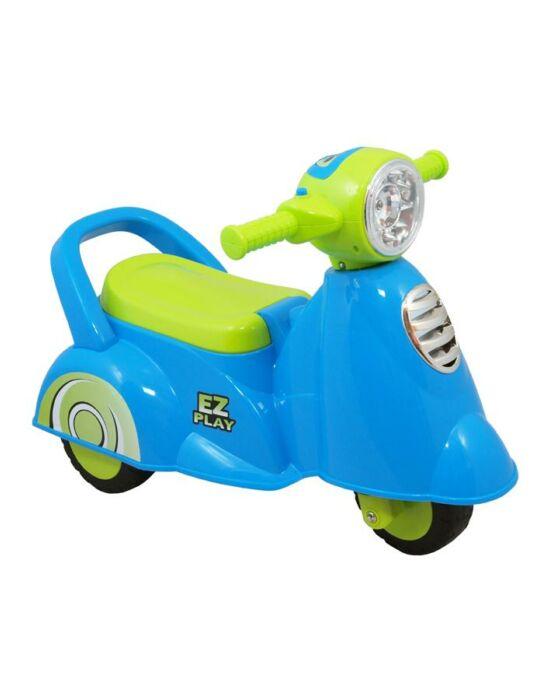 Gyerek zenélős jármű motor Baby Mix Scooter kék