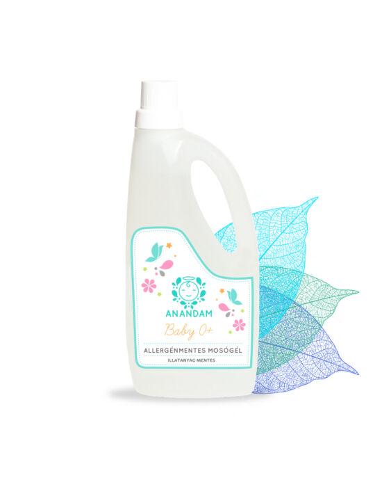 ANANDAM Baby Allergénmentes mosógél - illatmentes 1l